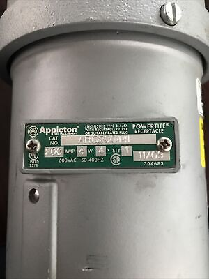 EATON Crouse-Hinds NPJ10487 Arktite Plug Krydon 100A 600V 3W 4P