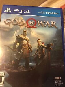God of war video game for ps4