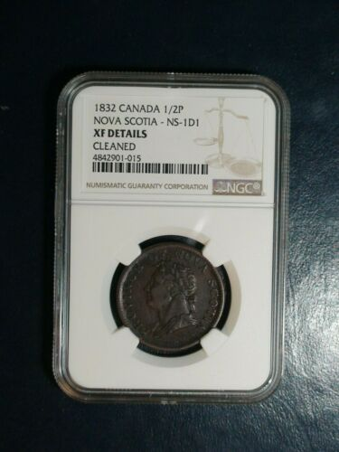 1832 Canada One Half Cent NGC XF NOVE SCOTIA 1/2P Coin PRICED TO SELL NOW!