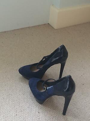 Jessica Simpson navy patent & suede heels size 6
