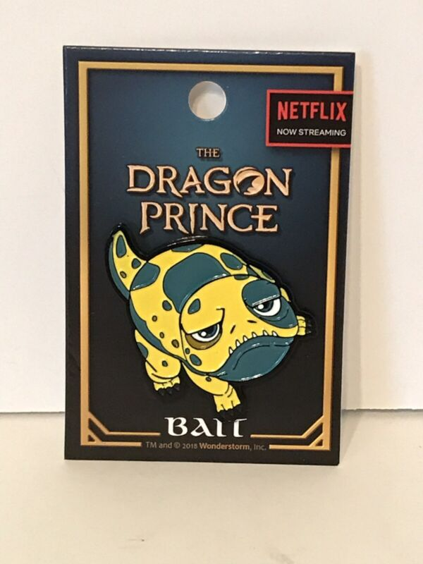 The Dragon Prince BAIT (Glow Toad) Enamel Pin Hot Top Exclusive NEW Netflix Rare