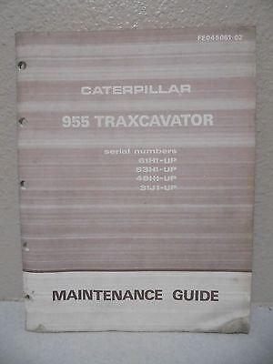 Caterpillar 955 Traxcavator Maintenance Guide
