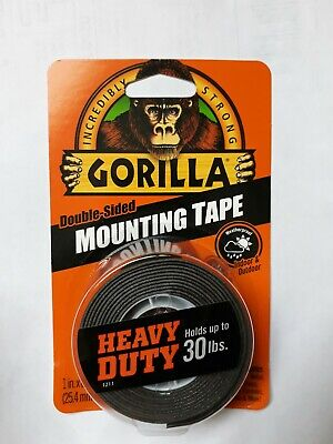 Gorilla Double Sided Mounting Tape Removable Multi Surface Adhesive Foam Strips.