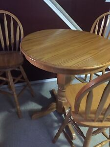 Tall table and chairs (obo)