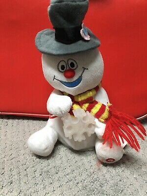GEMMY Frosty The Snowman Animated Music Singing Snow Flake Plush HTF Not Working
