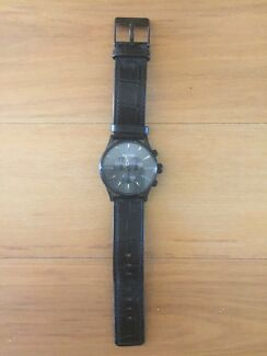 Nixon Black Gator Sentry Chrono Leather Watch