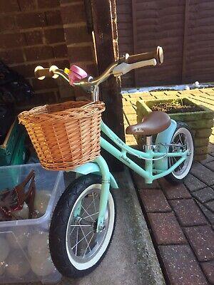 "Pendleton Bayley Balance Bike 12.5"" Kids Bicycle With Basket Great Condition"