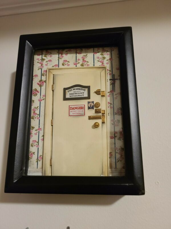 The Conjuring Warrens Consultants of Demonology Witchcraft Framed Light Up Door