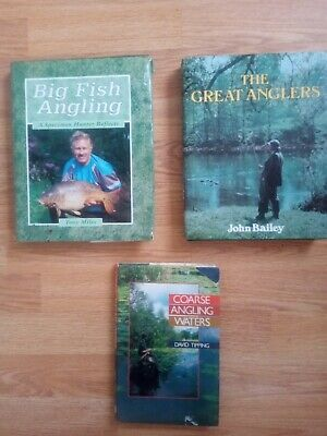 Job lot of 3 X Fishing/Angling Hardback Books. Authors: Miles/ Bailey/ Tipping.