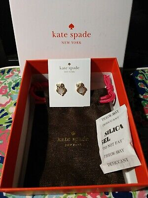 KATE SPADE NEW YORK INTO THE WOODS OWL STUD EARRINGS NWT