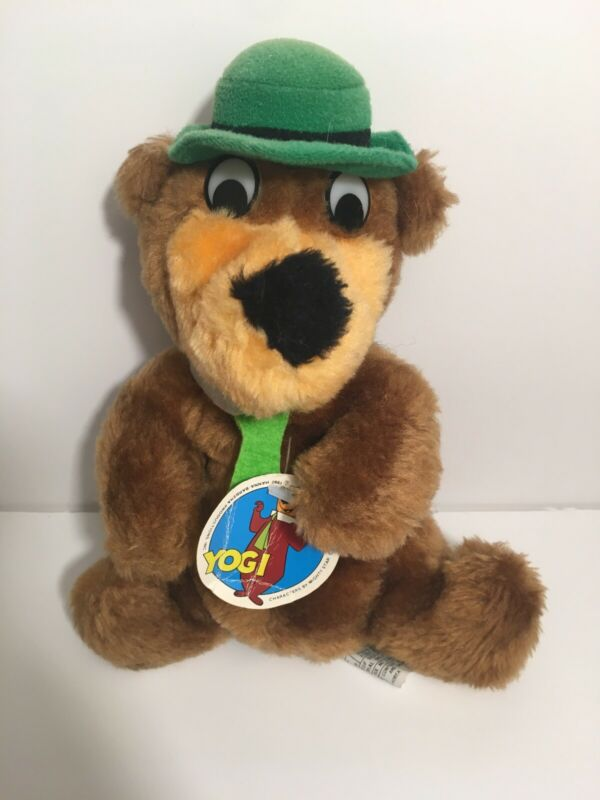 "✨ Mighty Star Yogi Bear Plush 8"" Hanna Barbera 1980 Stuffed Animal With Tag ✨"