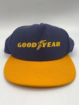 Classic GOODYEAR Racing Hat Short Brim Braid Snapback Trucker Cap *** NOS ***