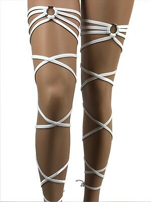 Garter Leg Wraps Gartinis Thigh Wraps Leg Warmers Exotic Dancewear Rave Clubwear
