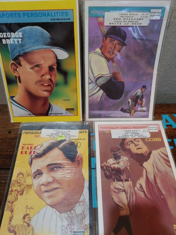 Personality Comics Sport Classics Babe Ruth, Ty Cobb, Tedd williams,George Brett
