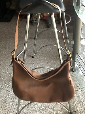 Coach Brown shoulder bag Pebbled Leather  Bag
