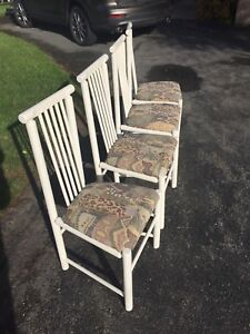Hard wood chairs with upholstered seats **REDUCED**