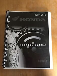 2009/2010 Honda CRF 450R Service Manual