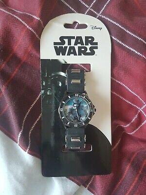 DISNEY kids Star Wars Storm Trooper Watch - black - Brand new - free p+p