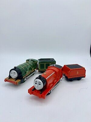 Thomas & Friends Motorized Trackmaster James Emily W/Tenders Train Engines 2013