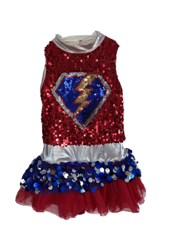 Girls Red and Blue Dance Costume by Weissman size SC