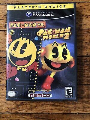 Pac-Man vs./Pac-Man World 2 (Nintendo GameCube, 2003) Disc & Manual