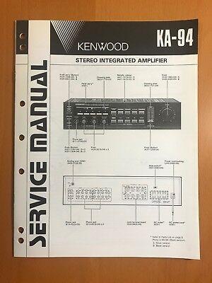 Service Manual KENWOOD KA 6100 KA 6150 KA 7002 KA 801 BASIC ... on