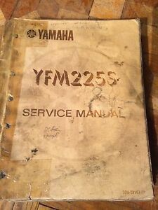 1985 Yamaha YFM225S Service Manual