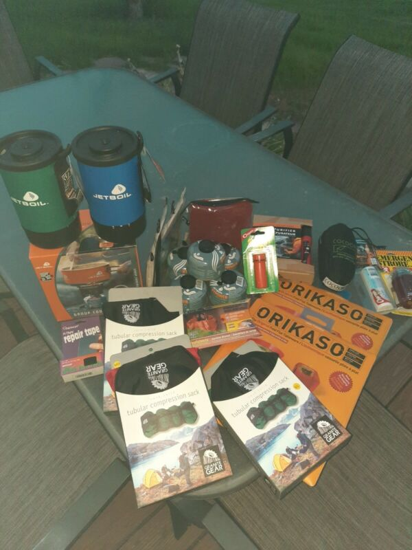 Camping Gear - JetBoil Cooker, Miox Water Purifier & Misc Goods