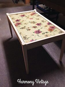 Pretty Floral Lace Decoupage Coffee Table
