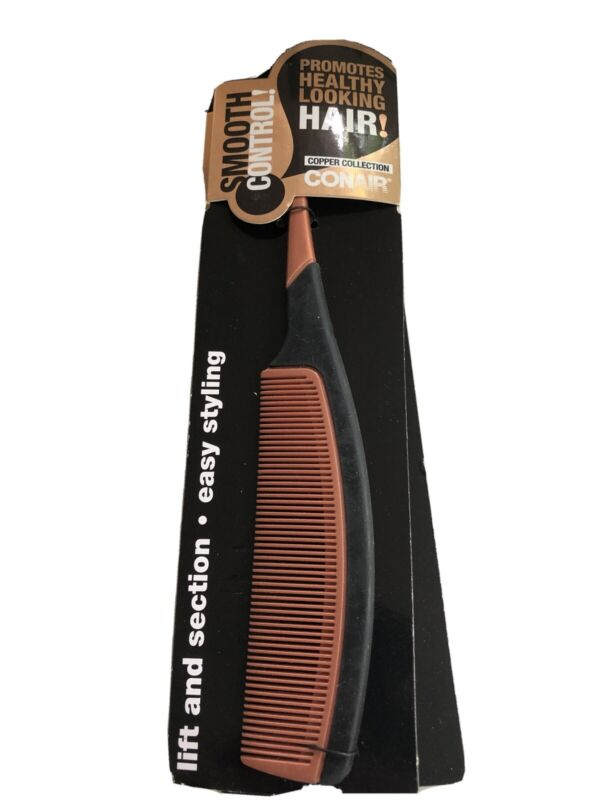 Conair Smooth Control Dandruff Control Hair Comb Copper Collection Brand New