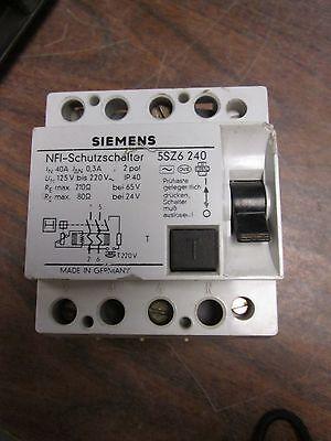 Siemens Interrupter Differential 5sz6 240 Nfi-schutzschalter 2 Pol 40a Used