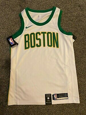 NIKE NBA BOSTON CELTICS BASKETBALL JERSEY - MEDIUM - WHITE/GREEN AJ4597-100