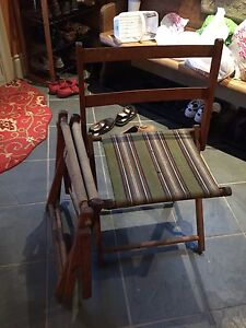 Two Vintage folding chairs that fold flat