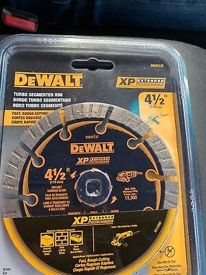 - NEW Dewalt DW4713T Diamond Saw Blade Wet / Dry Cutting Segmented 4.5