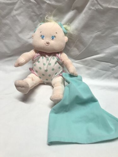 Tollytots Baby Doll Soft Plush Stuffed With Onsie Her Blanket 13 Tall - $8.60
