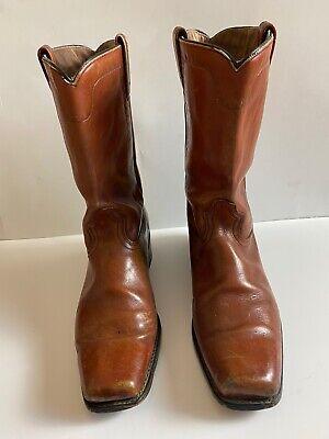 Men's Vintage ACME Western Cowboy Boots - Style 5604 Brown Leather Size 13D