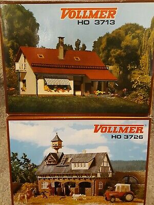 Vollmer HO Building Model Kits 3713 Country House & 3726 Stable