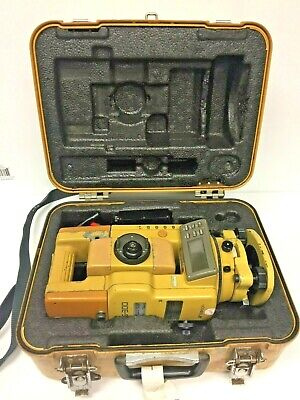 Topcon Gts-302d Surveying Total Station With Battery Cabling And Case- Used