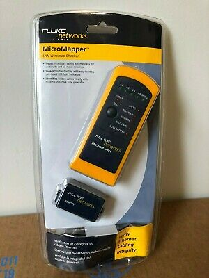 New Fluke Network Micromapper Cable Tester Wiremap Mt-8200-49a