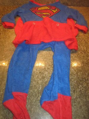 Vintage Baby Girl Halloween SUPER GIRL Set Outfit Size Large 19-24 lbs. Cute!!!](Cute Girl Halloween Outfits)