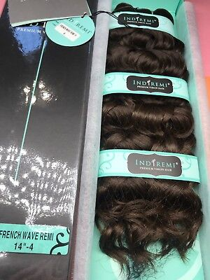 """IndiRemi® Virgin Remi Hair Weave_FRENCH_WAVE_WEAVING_14""""_#4 Indi Remi French Wave"""