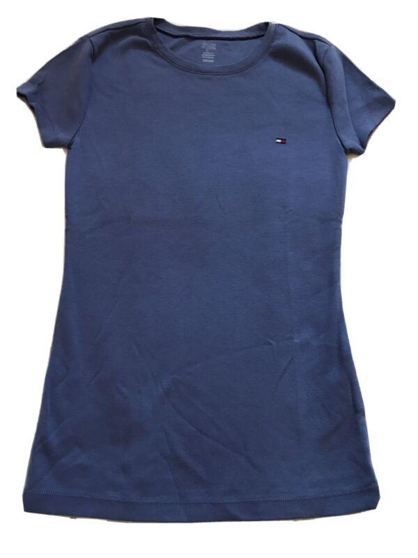 Tommy Hilfiger T-shirt Round Neck Violet Purple Size Xs