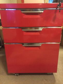 3 drawer red filing cabinet with suspension files included Artarmon Willoughby Area Preview