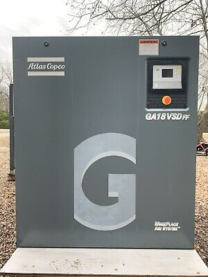 25 Hp Atlas Copco Vsd Rotary Screw Air Compressor