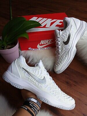 * Size 12 Women's NIKE AIR ZOOM CAGE 3 HC White 918199 102 Tennis Shoes ()