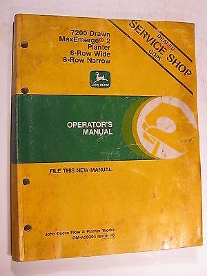John Deere 7200 Drawn Maxemerge 2 Planter 6 8 Wide Narrow Operators Manual