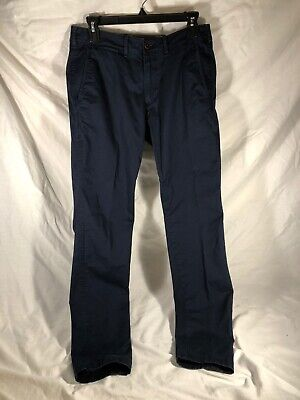 Abercrombie And Fitch Mens Chino Pants 30x32 Felix Super Skinny Stretch Navy