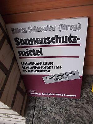 Sonnenschutzmittel, von Silvia Schauder (Hrsg.), aus dem Deutschen Apotheker Ver