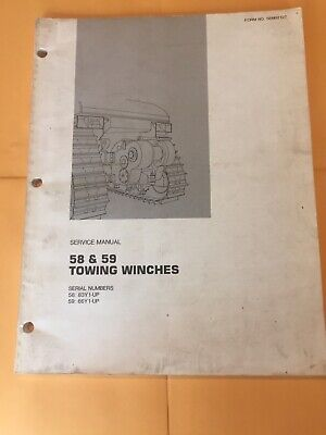 Cat 58 59 Towing Winch Service Manual 83y 66y Caterpillar Hyster Shop Book