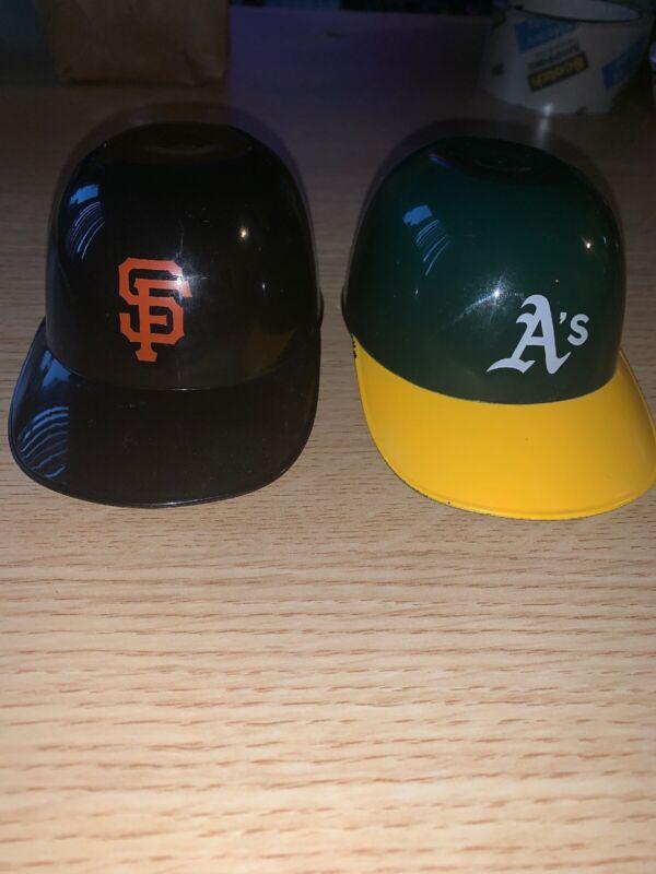 San Francisco Giants & Oakland A's SGA Ice Cream Mini Helmets Athletics Posey